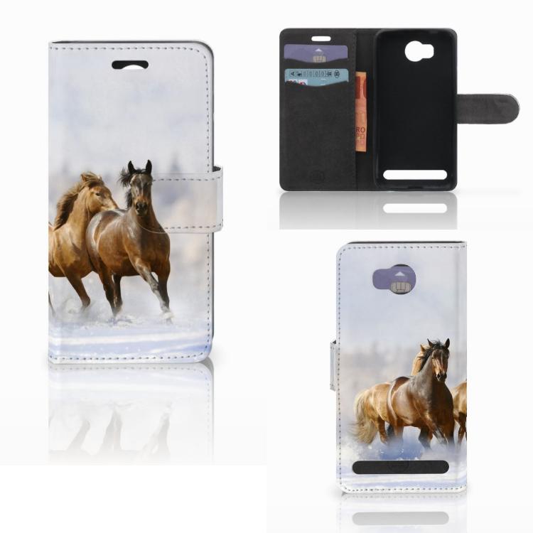 Huawei Y3 2 | Y3 II Telefoonhoesje met Pasjes Paarden