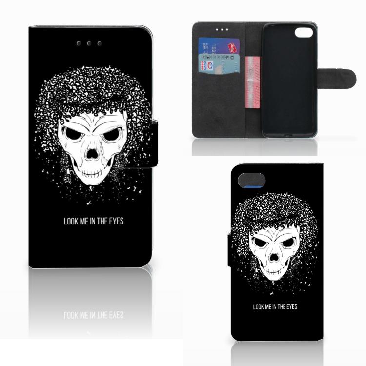 Telefoonhoesje met Naam Huawei Y5 2018 Skull Hair