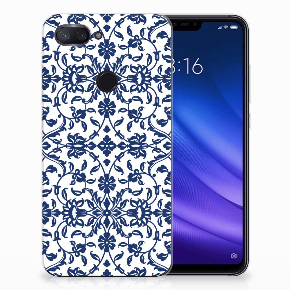 Xiaomi Mi 8 Lite TPU Hoesje Flower Blue