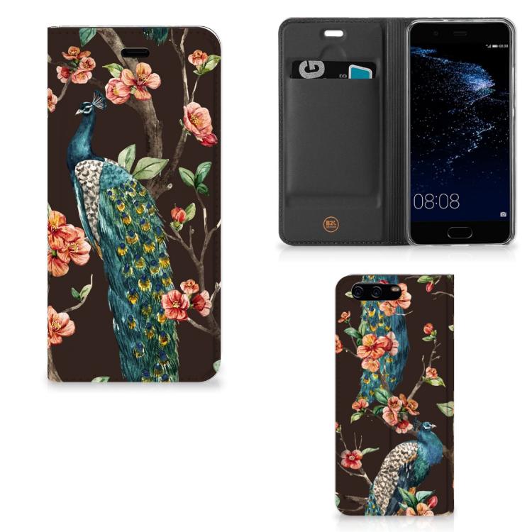 Huawei P10 Hoesje maken Pauw met Bloemen