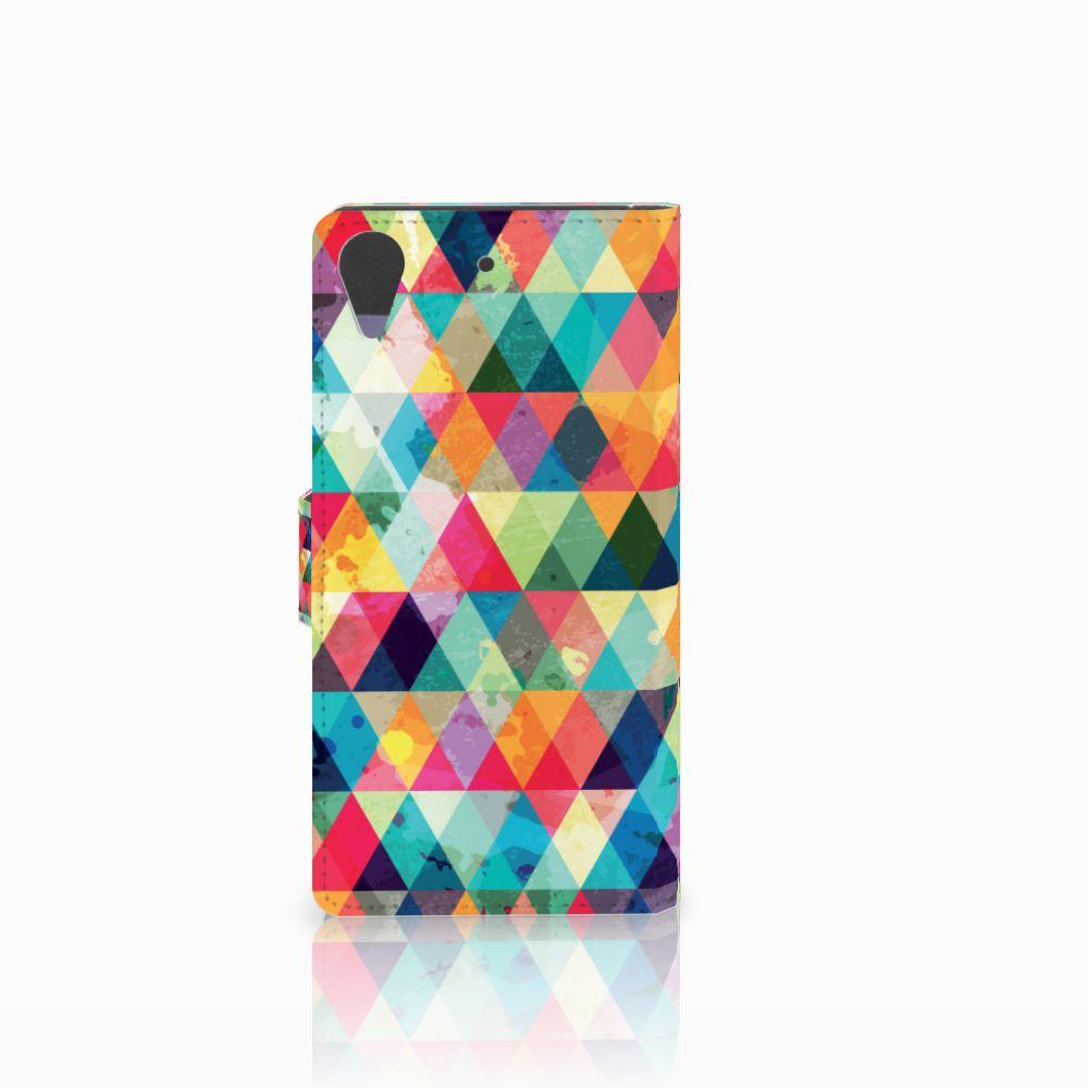 HTC Desire 628 Telefoon Hoesje Geruit