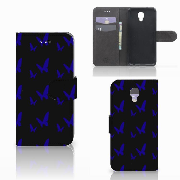 LG X Screen Telefoon Hoesje Vlinder Patroon