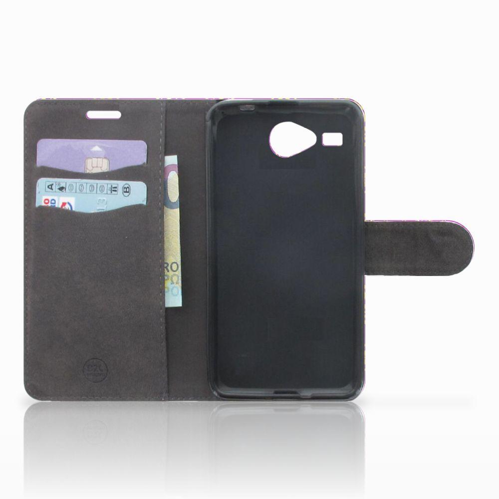 Wallet Case Acer Liquid Z520 Barok Roze