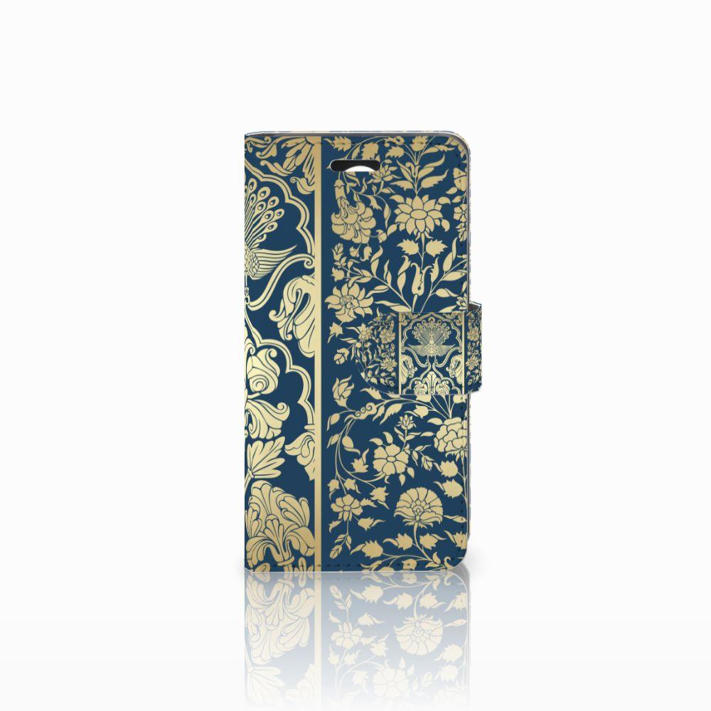 Huawei Y3 2 | Y3 II Uniek Boekhoesje Golden Flowers