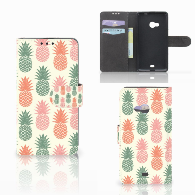 Microsoft Lumia 535 Book Cover Ananas