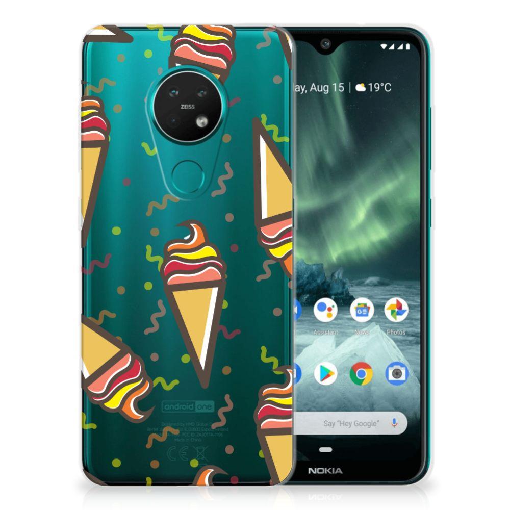 Nokia 7.2 | 6.2 Siliconen Case Icecream