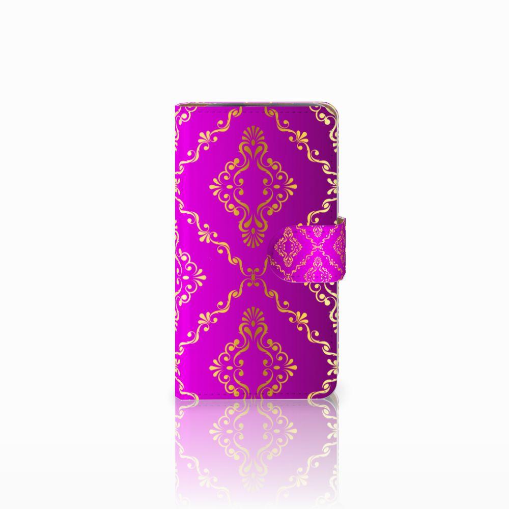 HTC Desire 310 Uniek Boekhoesje Barok Roze