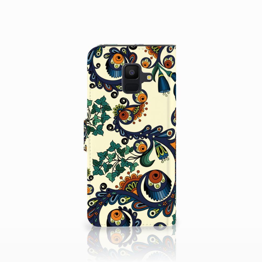 Wallet Case Samsung Galaxy A6 2018 Barok Flower