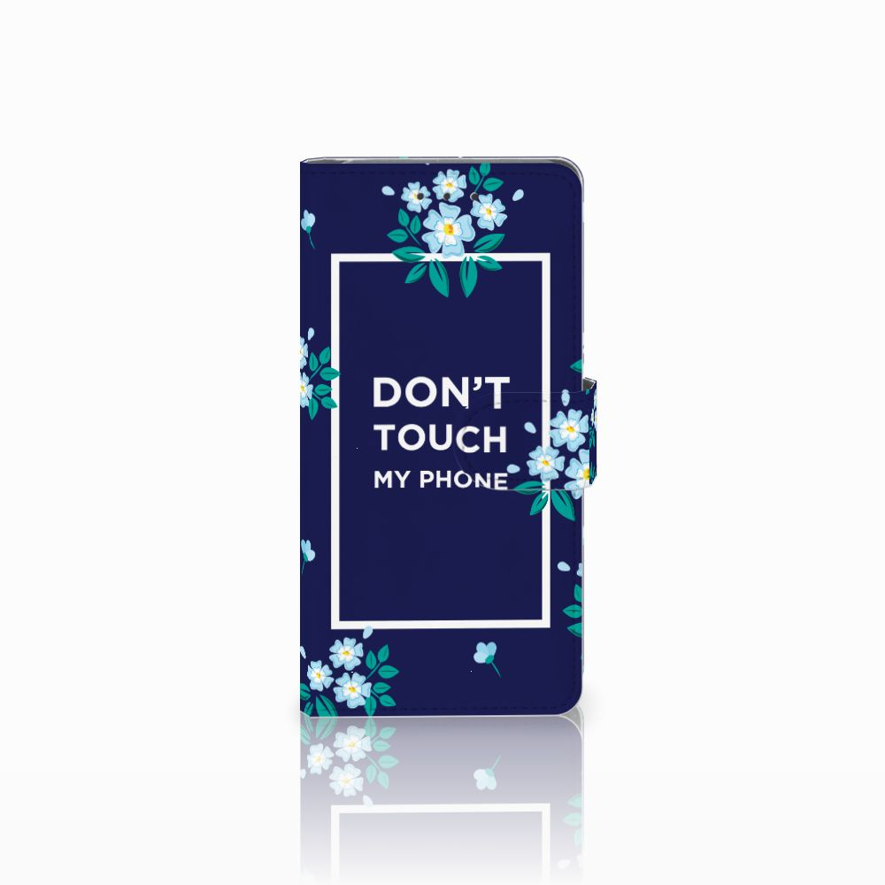 Samsung Galaxy Grand Prime | Grand Prime VE G531F Boekhoesje Flowers Blue DTMP