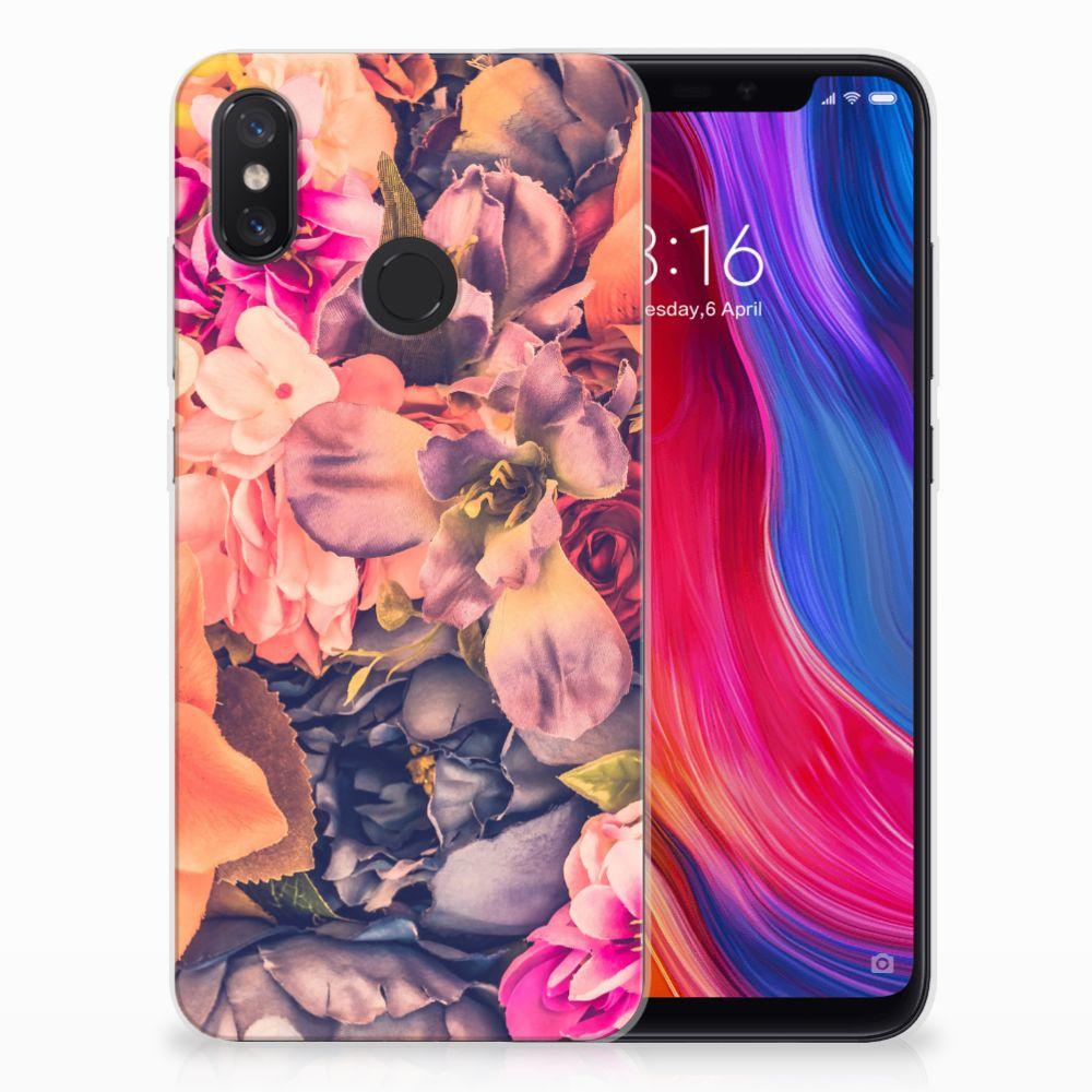 Xiaomi Mi 8 TPU Hoesje Design Bosje Bloemen
