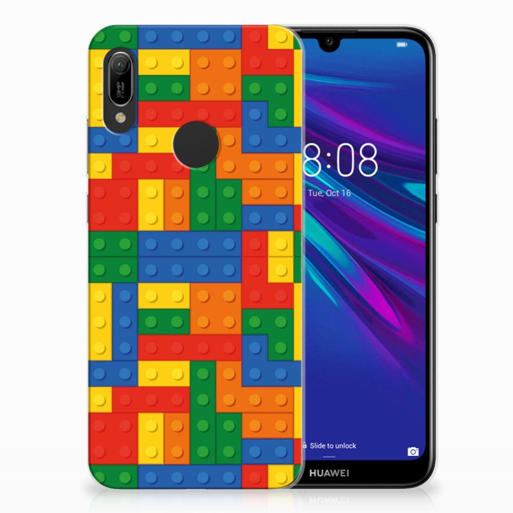 Huawei Y6 2019 | Y6 Pro 2019 TPU Hoesje Design Blokken