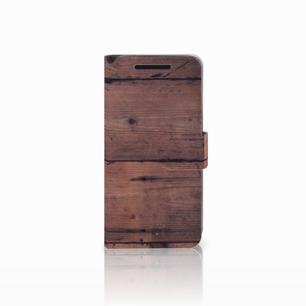 HTC One M9 Uniek Boekhoesje Old Wood
