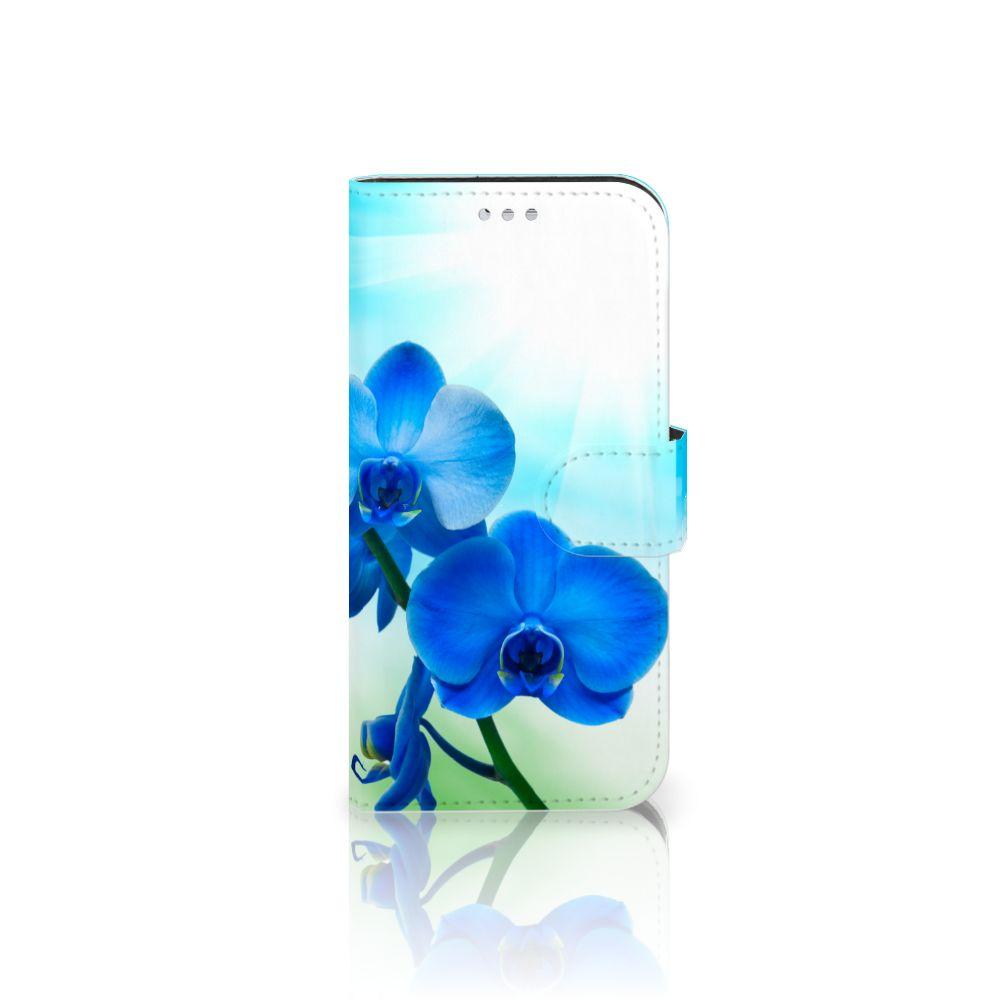 Samsung Galaxy S7 Boekhoesje Design Orchidee Blauw