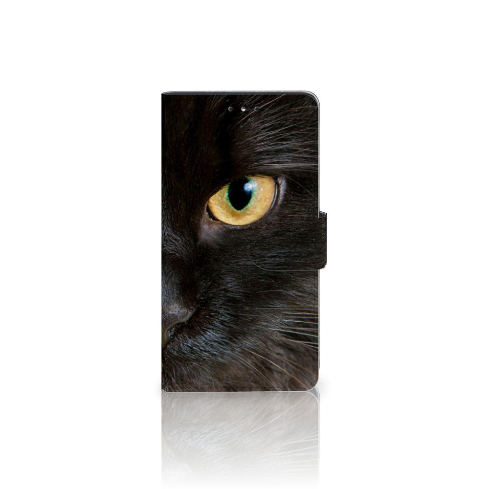 LG K10 (2017) Uniek Boekhoesje Zwarte Kat