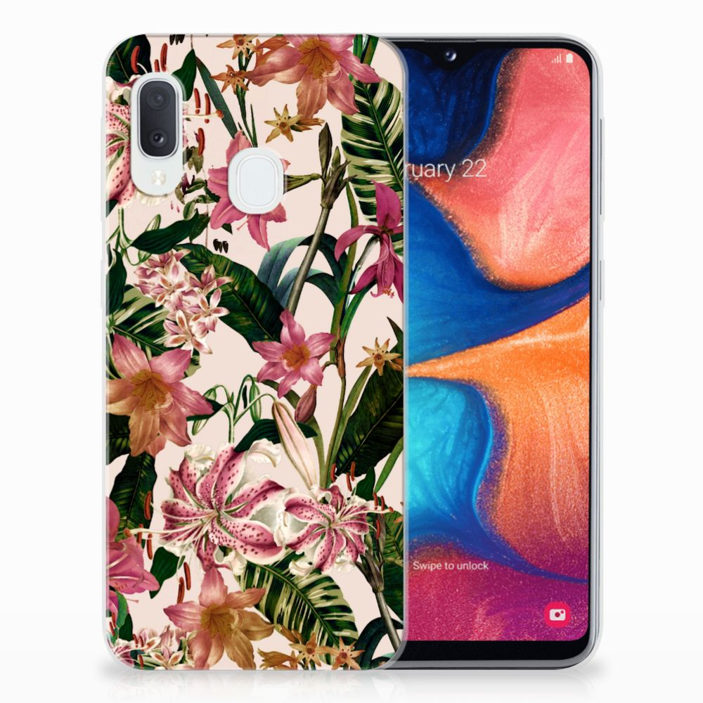 Samsung Galaxy A20e TPU Case Flowers