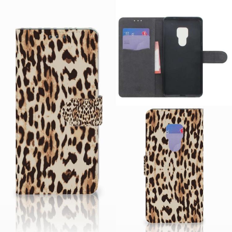 Huawei Mate 20 Telefoonhoesje met Pasjes Leopard