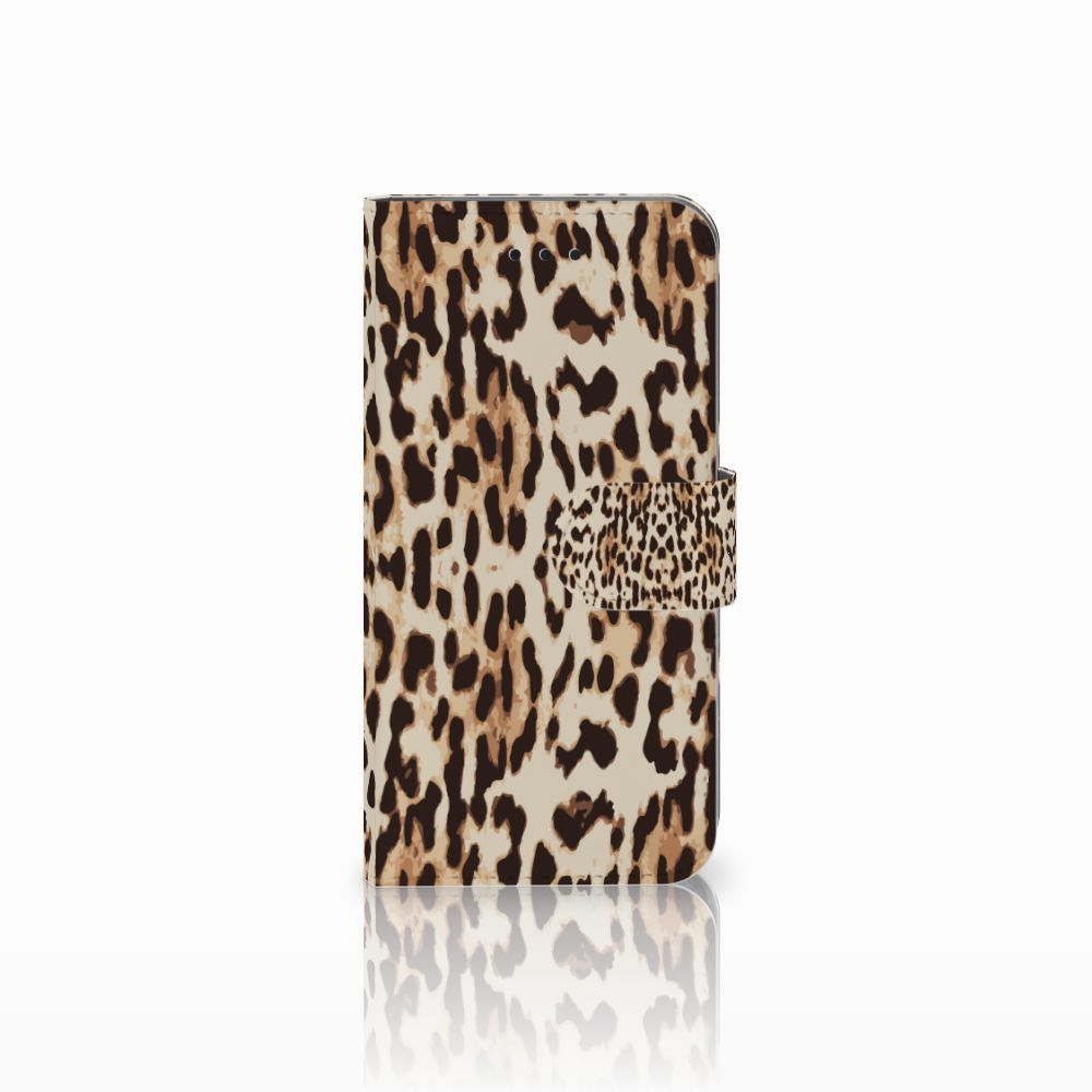 Apple iPhone X | Xs Uniek Boekhoesje Leopard