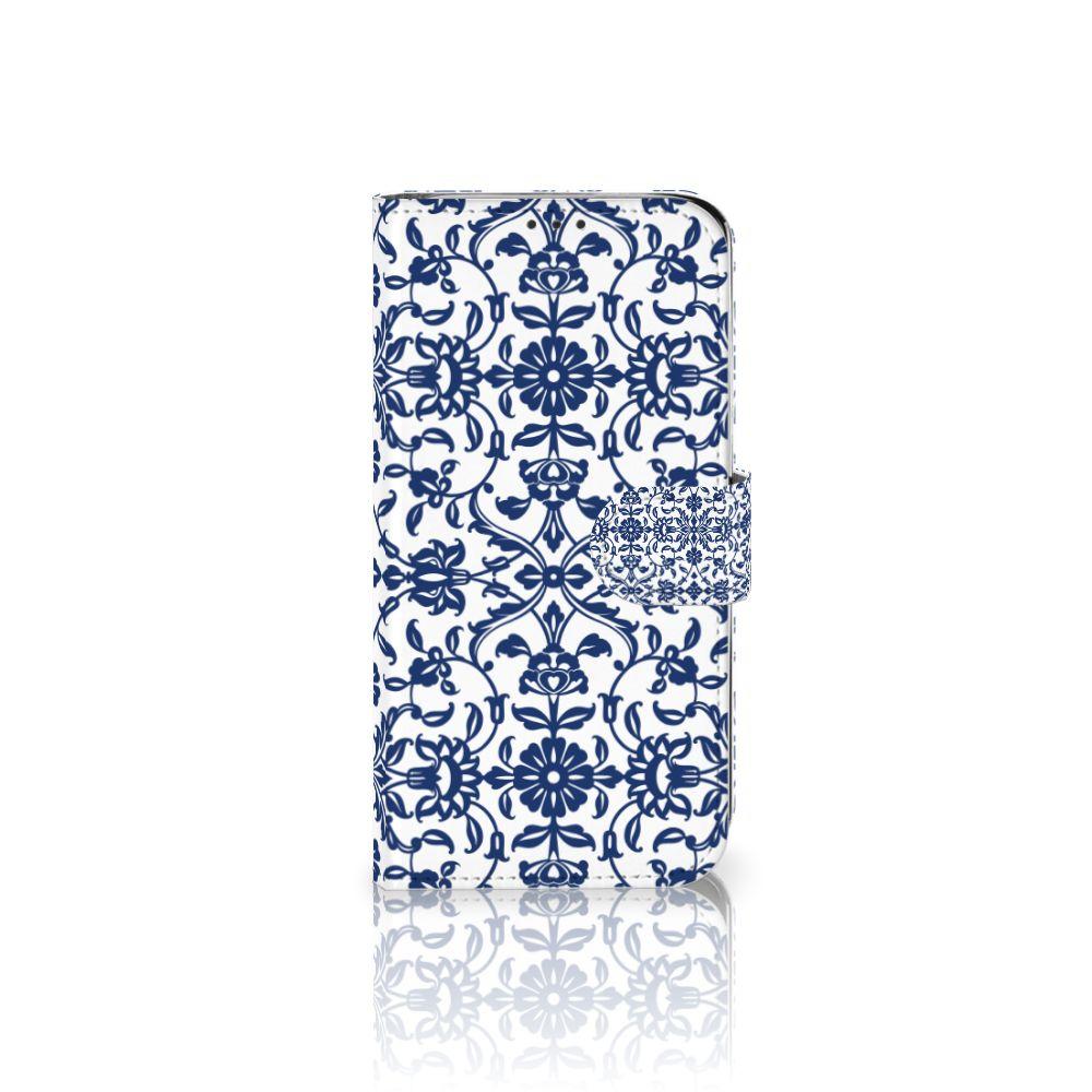 Xiaomi Mi A2 Lite Boekhoesje Flower Blue