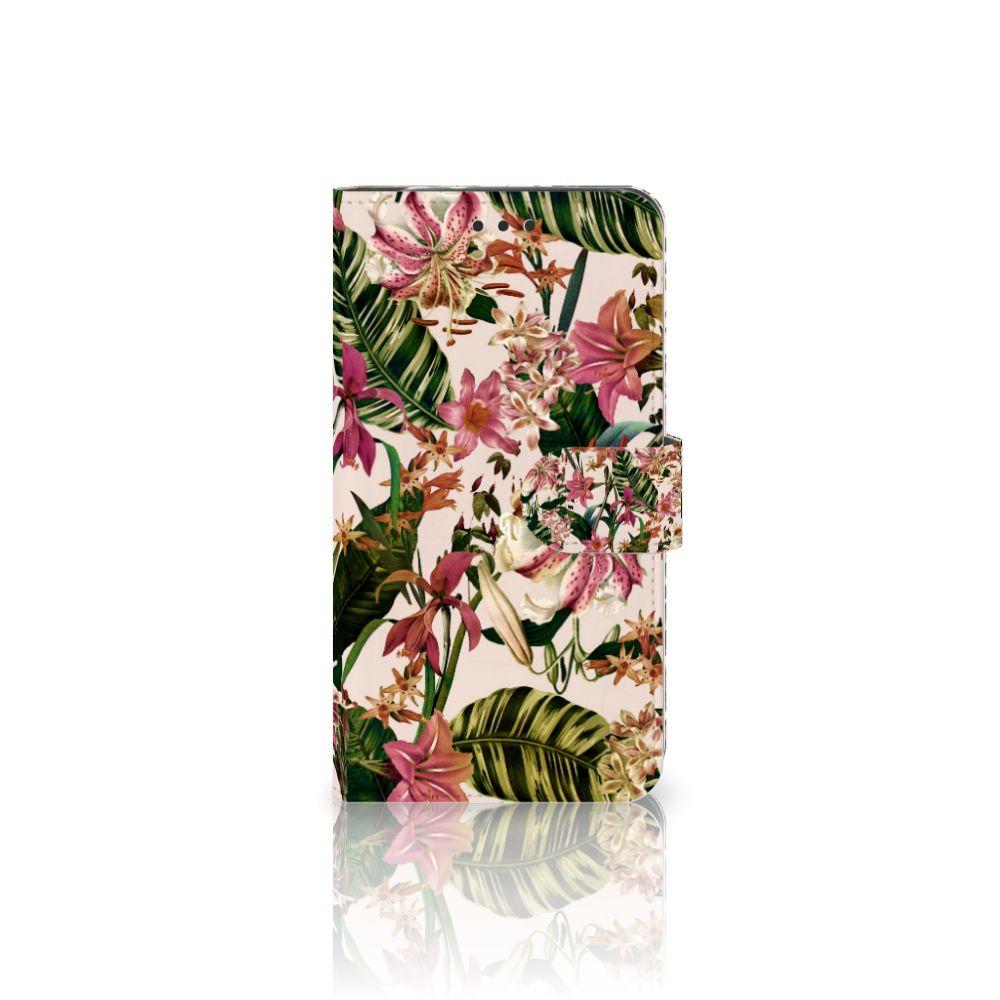 Motorola Moto Z2 Force Uniek Boekhoesje Flowers
