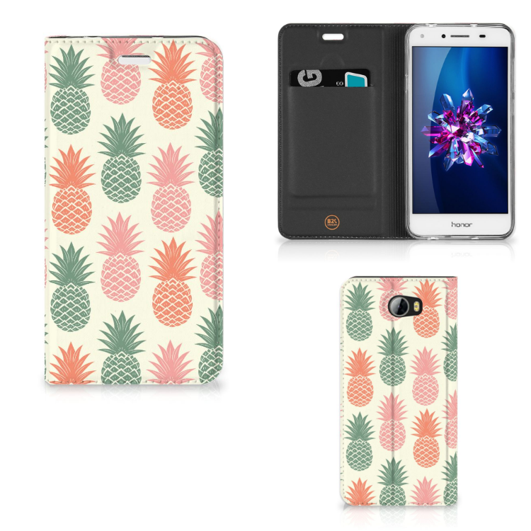 Huawei Y5 2   Y6 Compact Flip Style Cover Ananas