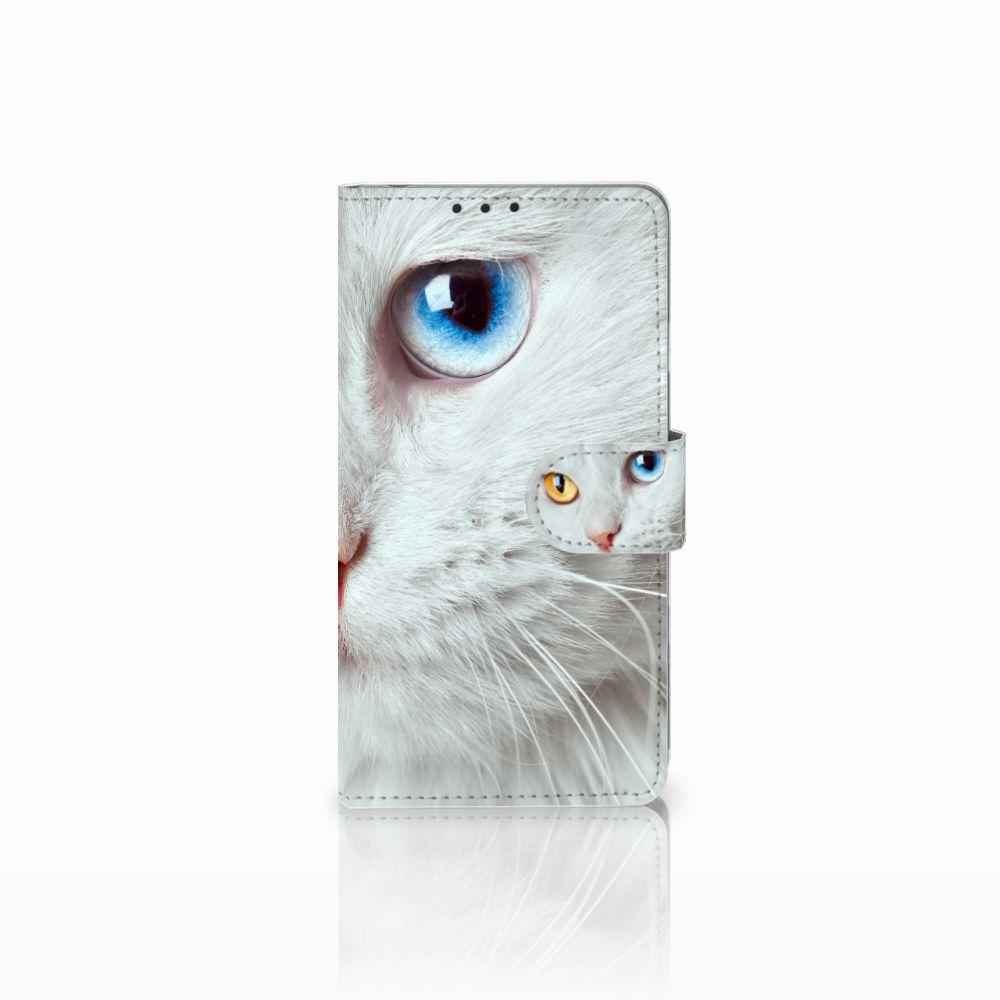 Sony Xperia Z1 Uniek Boekhoesje Witte Kat