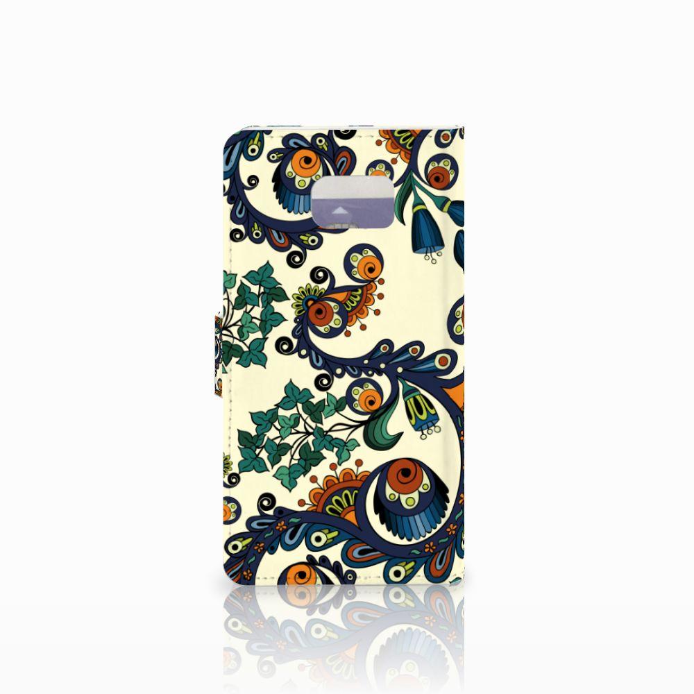 Wallet Case Samsung Galaxy Note 5 Barok Flower