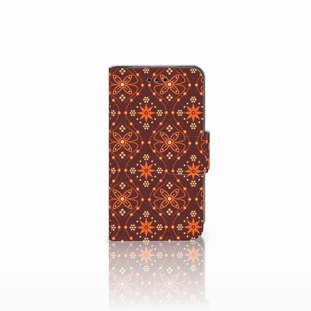 Samsung Galaxy Trend 2 Uniek Boekhoesje Batik Brown