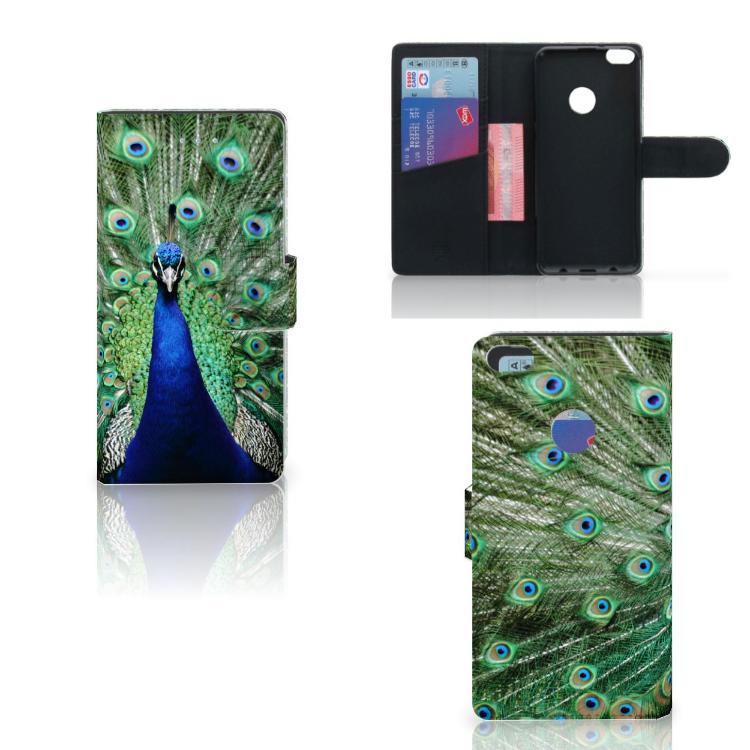 Huawei P8 Lite 2017 Telefoonhoesje met Pasjes Pauw
