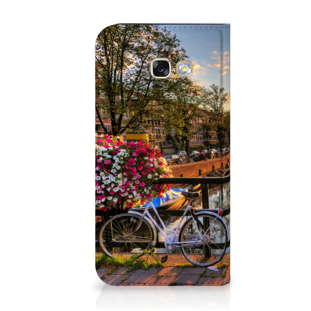 Samsung Galaxy A5 2017 Uniek Standcase Hoesje Amsterdamse Grachten