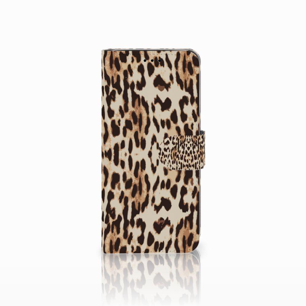 Samsung Galaxy A6 2018 Uniek Boekhoesje Leopard