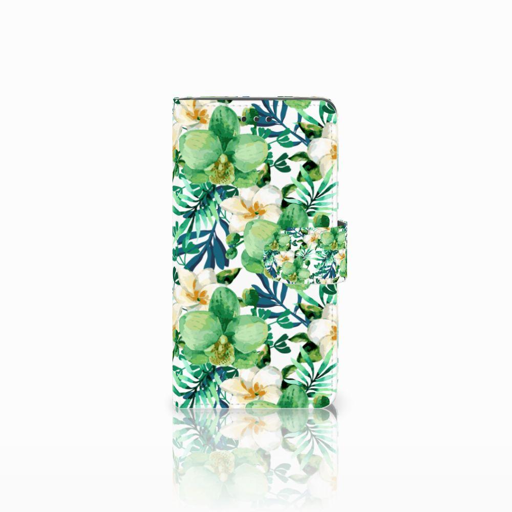 Nokia 7 Uniek Boekhoesje Orchidee Groen