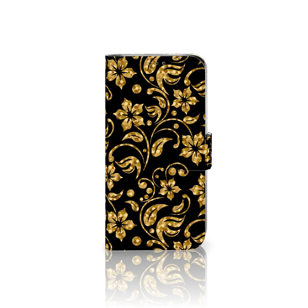 Xiaomi Mi A2 Lite Boekhoesje Design Gouden Bloemen