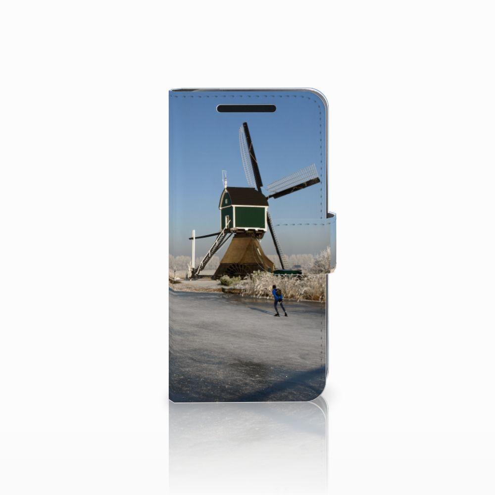 HTC One M9 Flip Cover Schaatsers