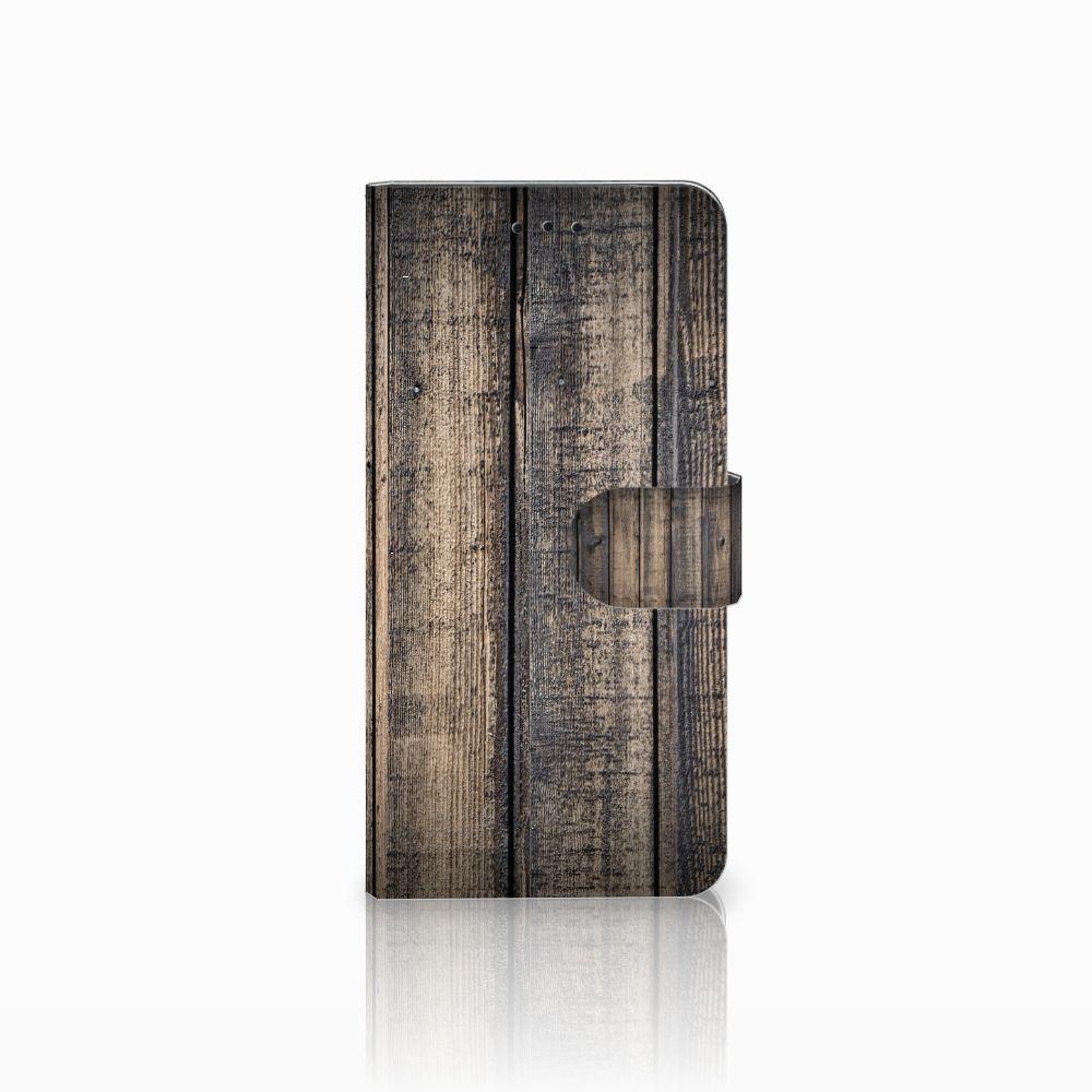 Motorola Moto E5 Boekhoesje Design Steigerhout