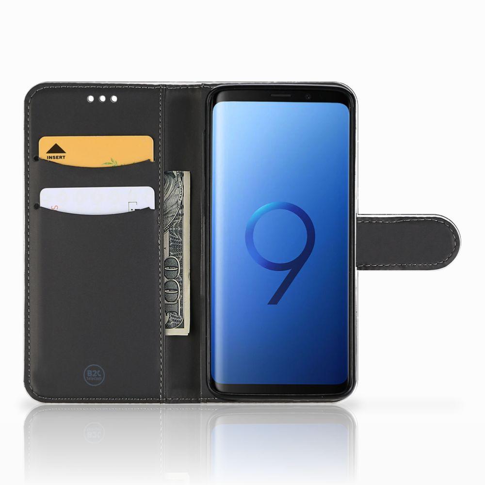 Samsung Galaxy S9 Uniek Boekhoesje Marmer Zwart