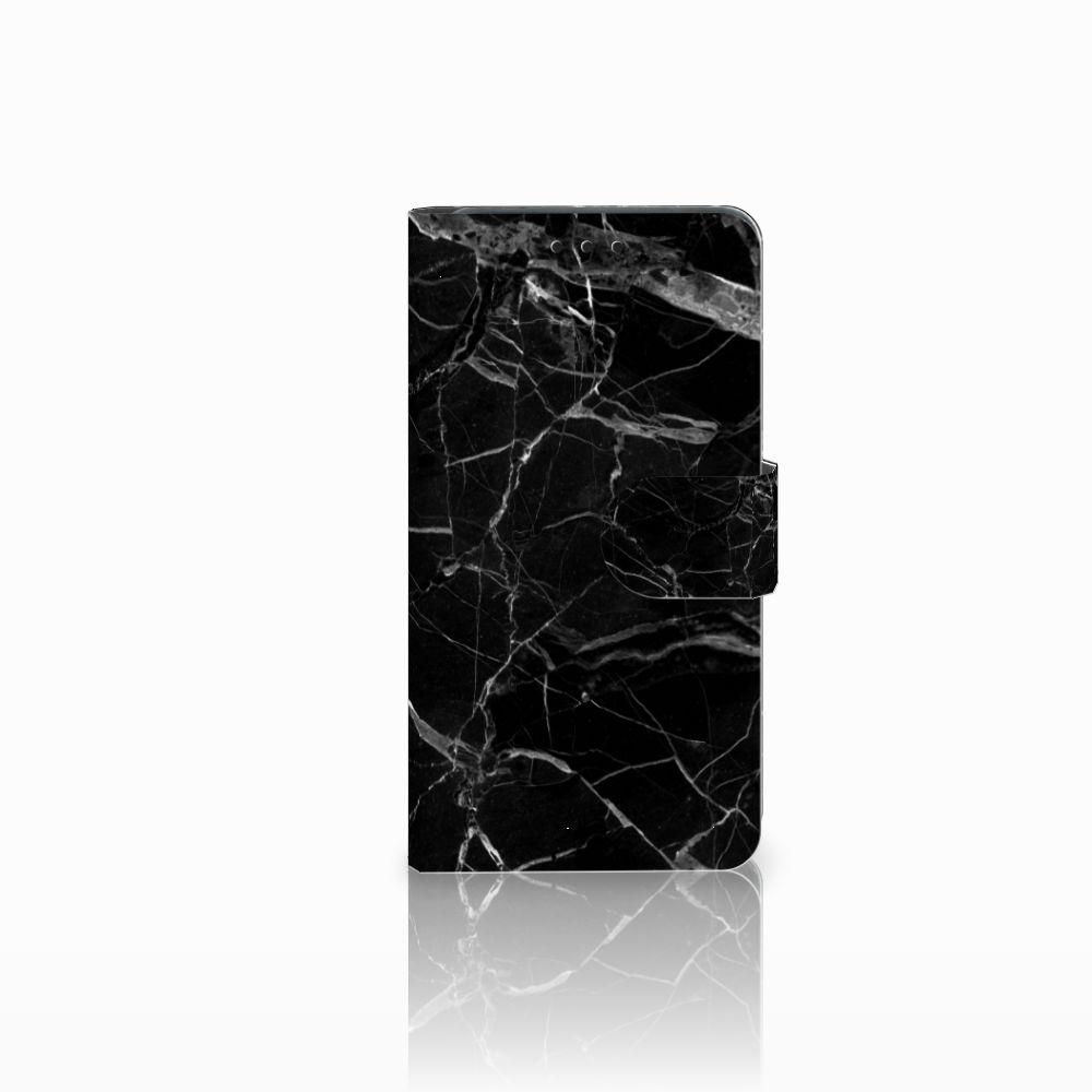 Huawei Y6 Pro 2017 Uniek Boekhoesje Marmer Zwart