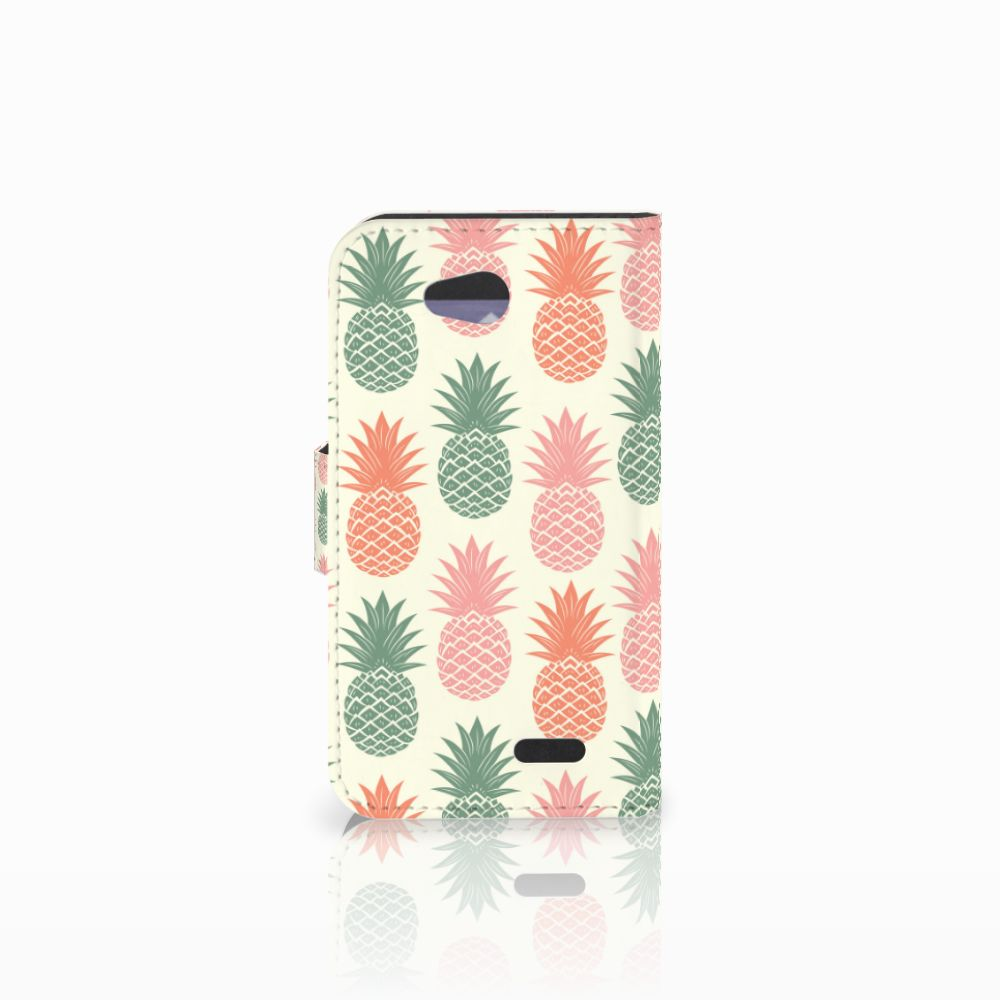 LG L90 Book Cover Ananas