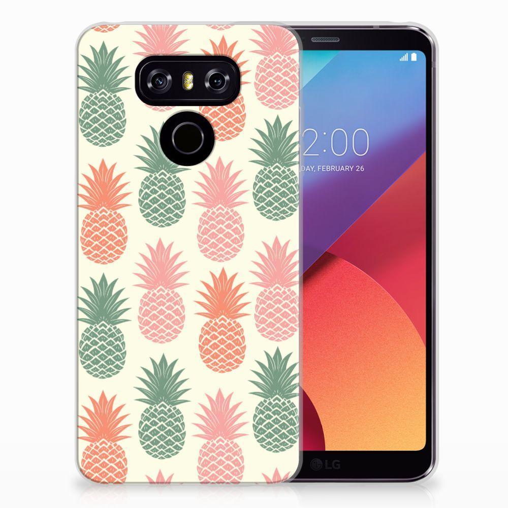 LG G6 Siliconen Case Ananas