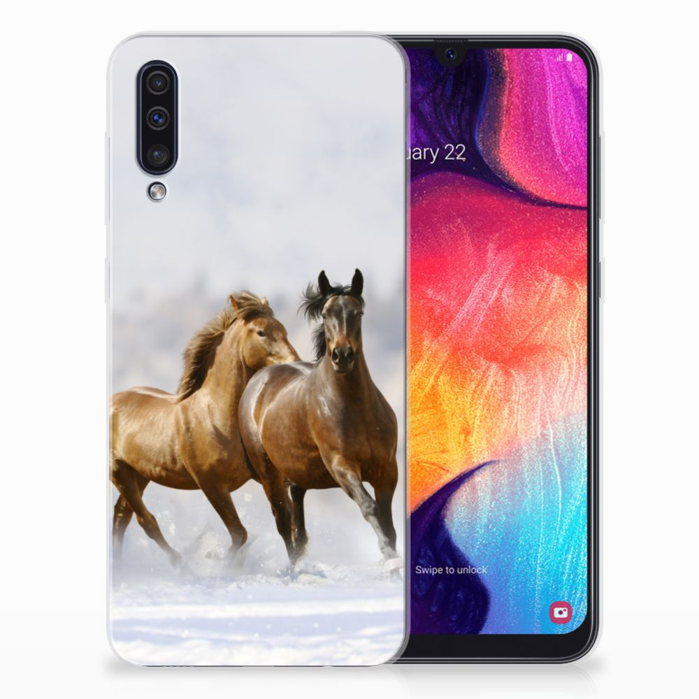 Samsung Galaxy A50 Uniek TPU Hoesje Paarden