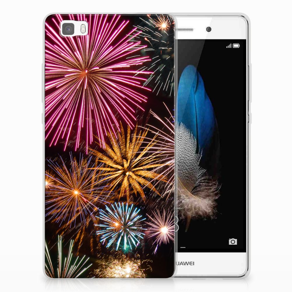 Huawei Ascend P8 Lite Silicone Back Cover Vuurwerk