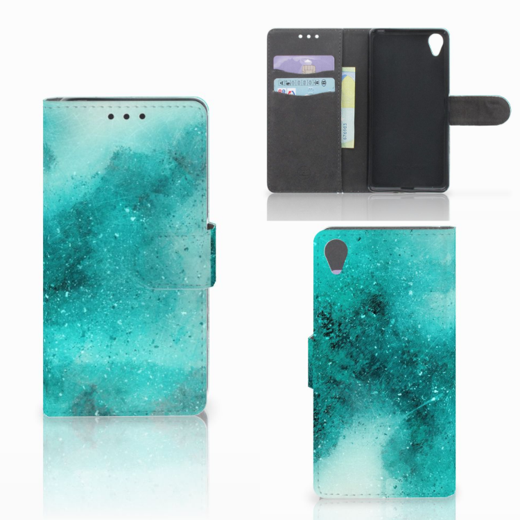 Hoesje Sony Xperia X Painting Blue