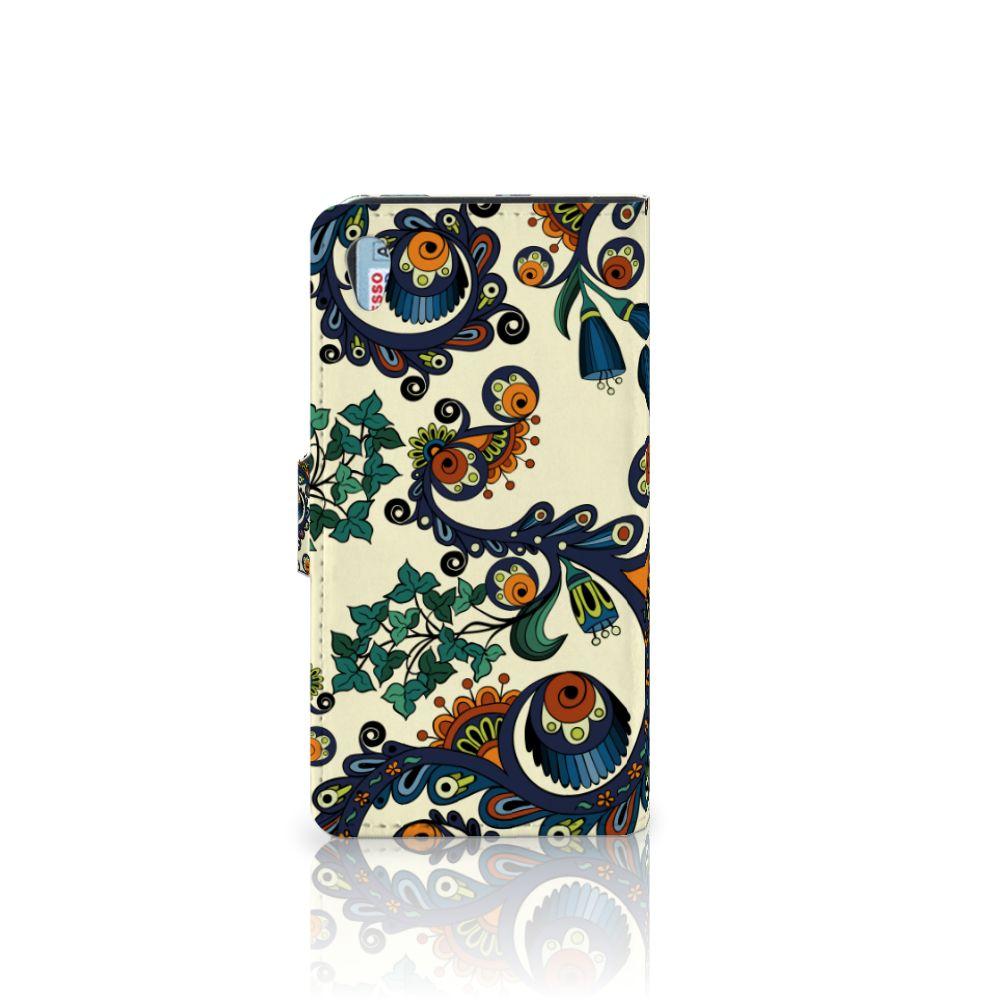 Wallet Case Sony Xperia Z2 Barok Flower