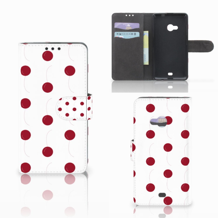 Microsoft Lumia 535 Book Cover Cherries
