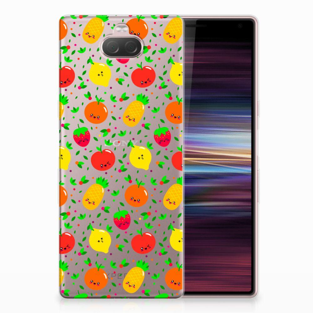 Sony Xperia 10 Siliconen Case Fruits