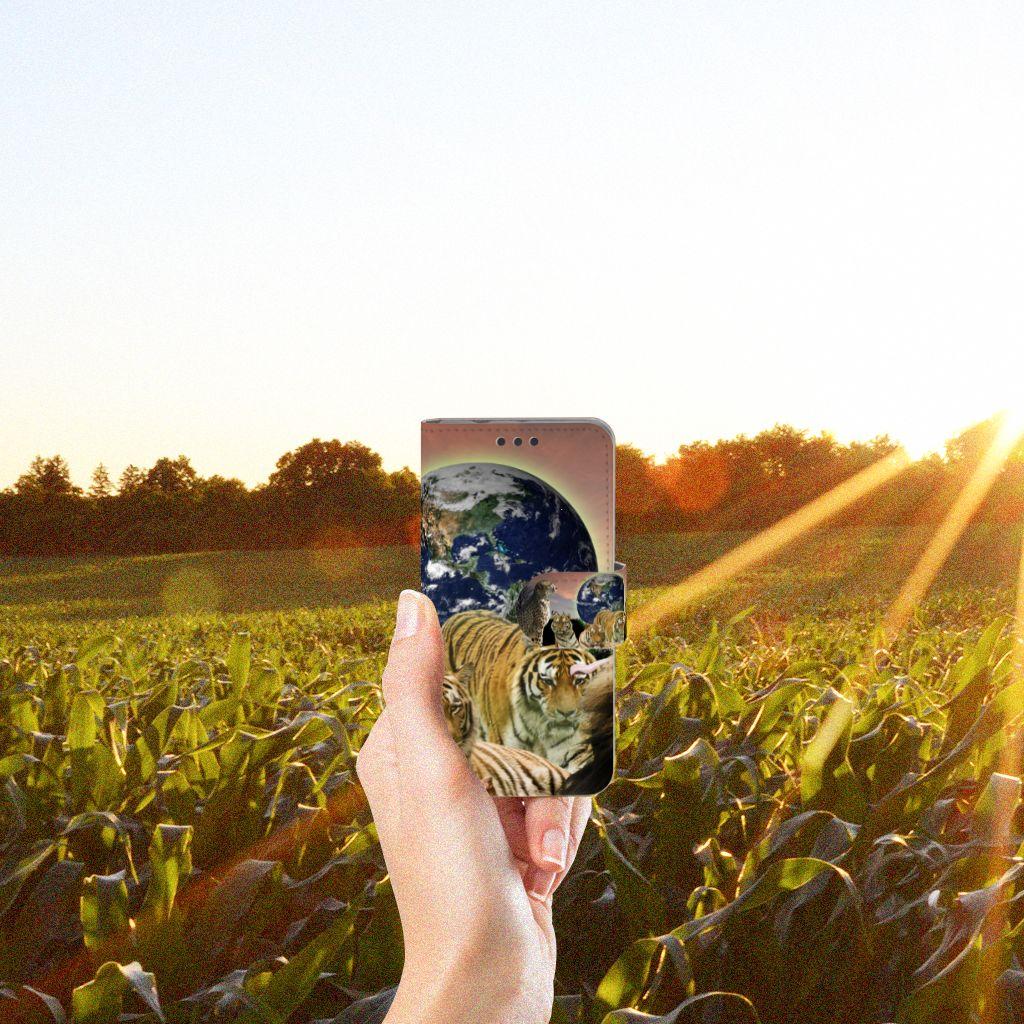 Sony Xperia Z3 Compact Telefoonhoesje met Pasjes Roofdieren