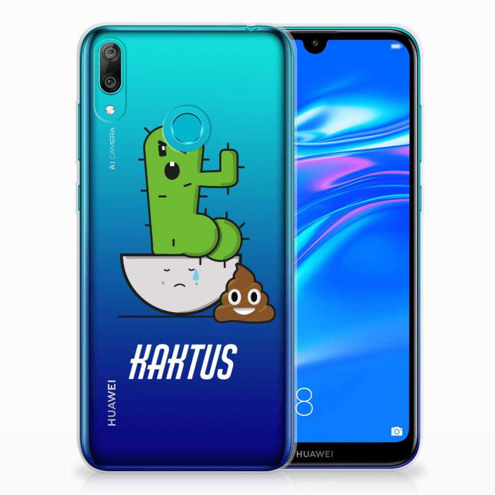 Huawei Y7 2019 Telefoonhoesje met Naam Cactus Poo