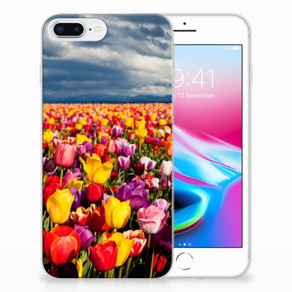 Apple iPhone 7 Plus | 8 Plus Uniek TPU Hoesje Tulpen
