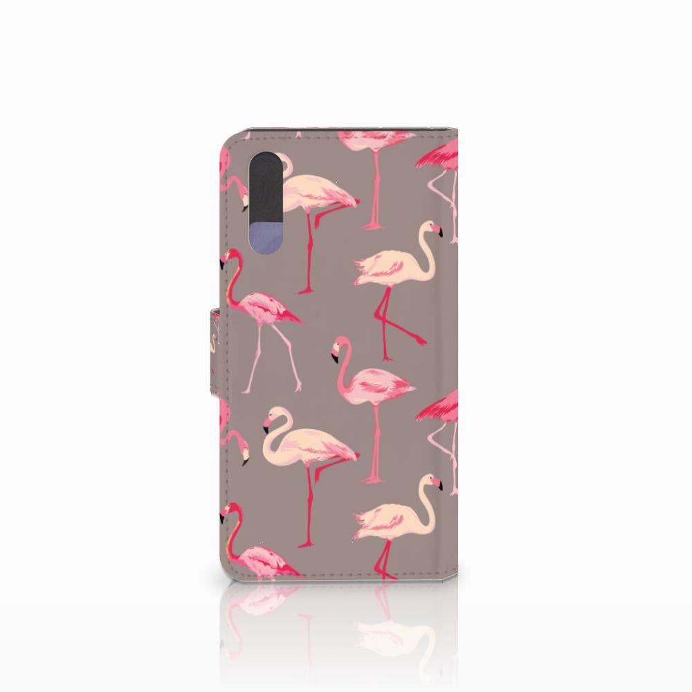 Huawei P20 Telefoonhoesje met Pasjes Flamingo