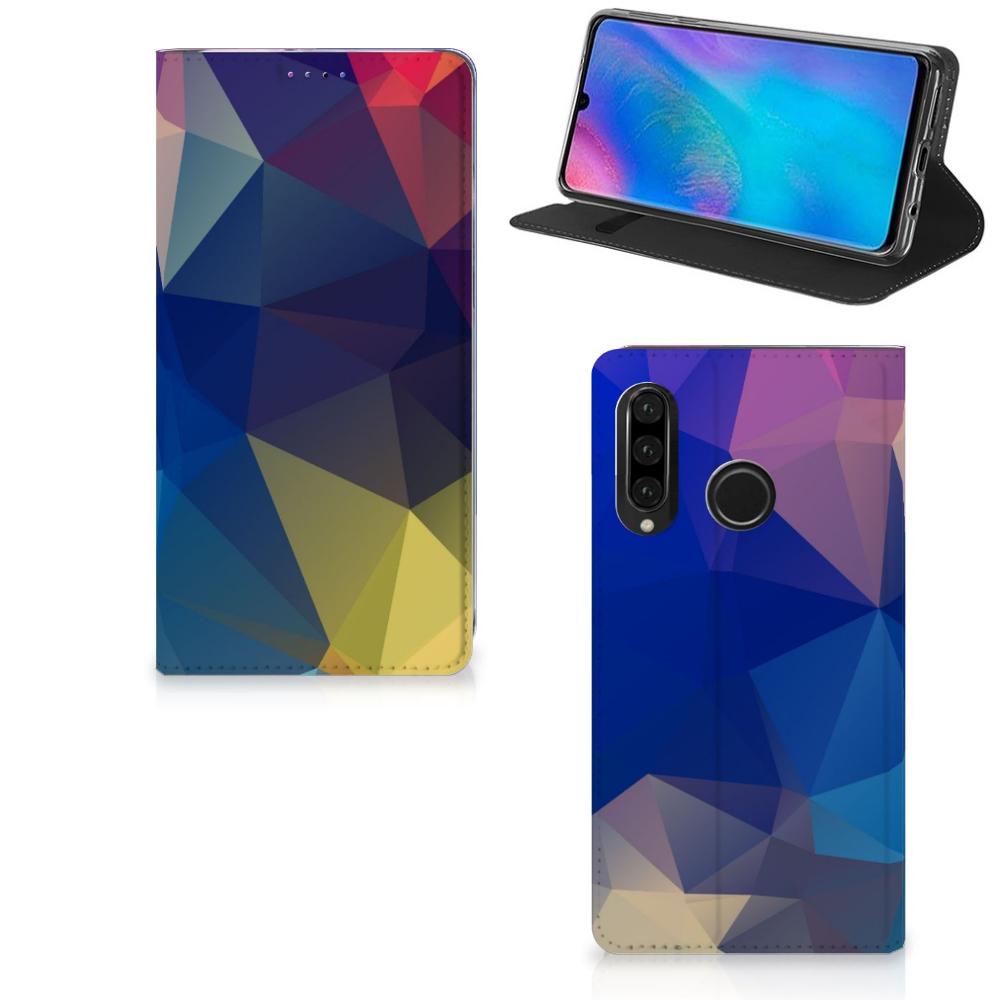 Huawei P30 Lite New Edition Stand Case Polygon Dark