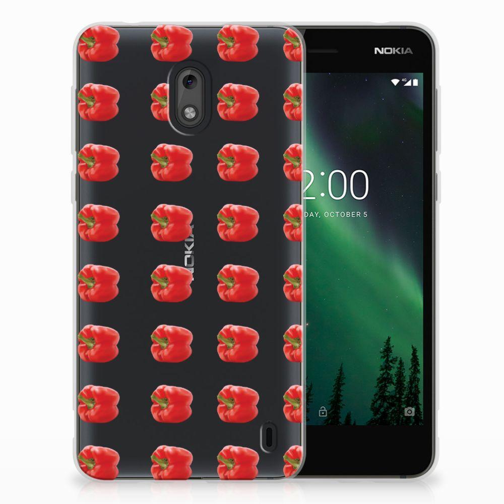 Nokia 2 Siliconen Case Paprika Red
